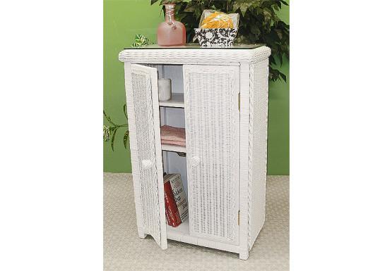 Wicker Linen Cabinet - Wicker Linen Cabinet