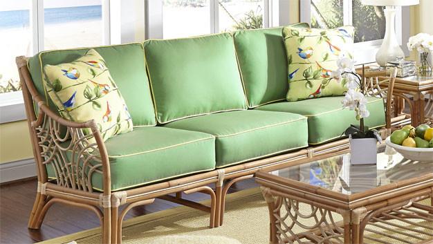 South Pacific Natural Rattan Sofa