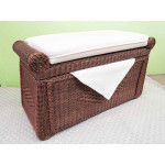 Woodlined Wicker Blanket Chest or Trunk - TEAWASH