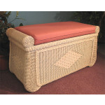 Woodlined Wicker Blanket Chest or Trunk - WHITEWASH