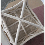 4 Piece Diamond  Natural Wicker Set  (2) Chairs - CHAIR BOTTOM