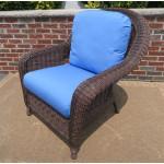 Laguna Beach Resin Wicker Chair  - ANTIQUE BROWN
