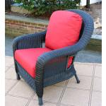 Laguna Beach Resin Wicker Chair  - BLACK
