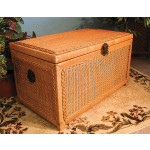 Wicker Trunk for Storage (Large) - CARAMEL