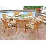 "Resin Wicker Dining Set 60"" Round - GOLDEN HONEY"