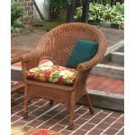 Diamond Rattan Framed Natural Wicker Chair - TEAWASH